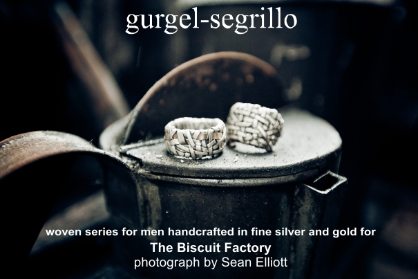 woven series contemporary jewellery created by Gurgel Segrillo for The Biscuit Factory