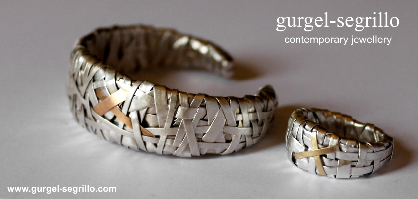 contemporary jewellery handcrafted in fine silver and gold created by Patricia Gurgel Segrillo
