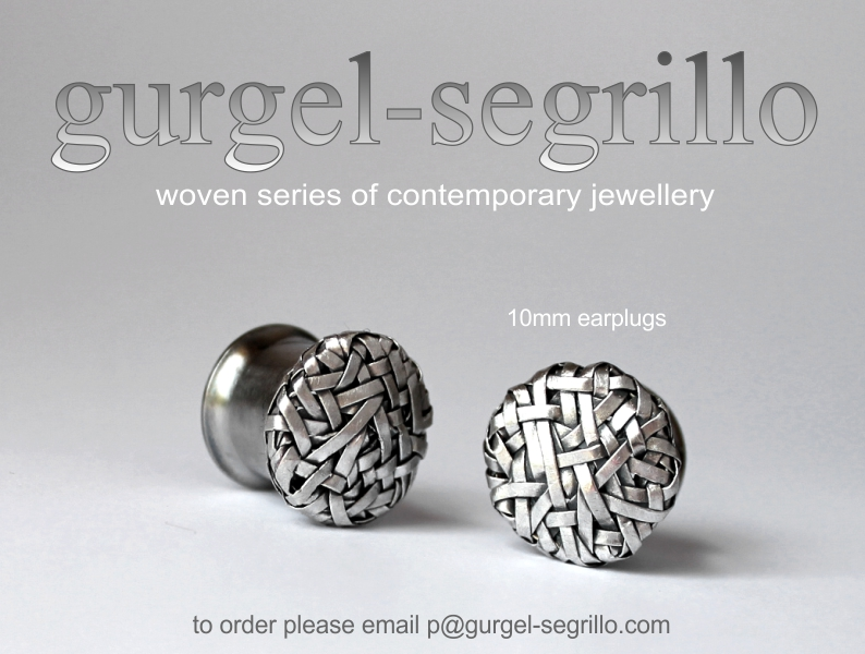 earplugs, contemporary jewellery created by Gurgel Segrillo
