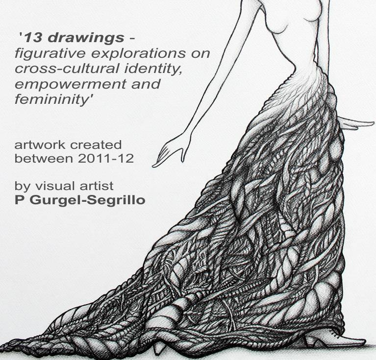 13 Drawings, exhibition of figurative art created by P Gurgel-Segrillo at 2020 Gallery, Cork City