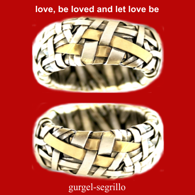 Gurgel-Segrillo supports marriage equality - partnership bands handcrafted in silver and gold